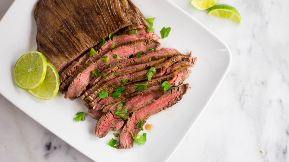 Coconut Lime Marinated Skirt Steak ~ Healthy AF | Tastemade