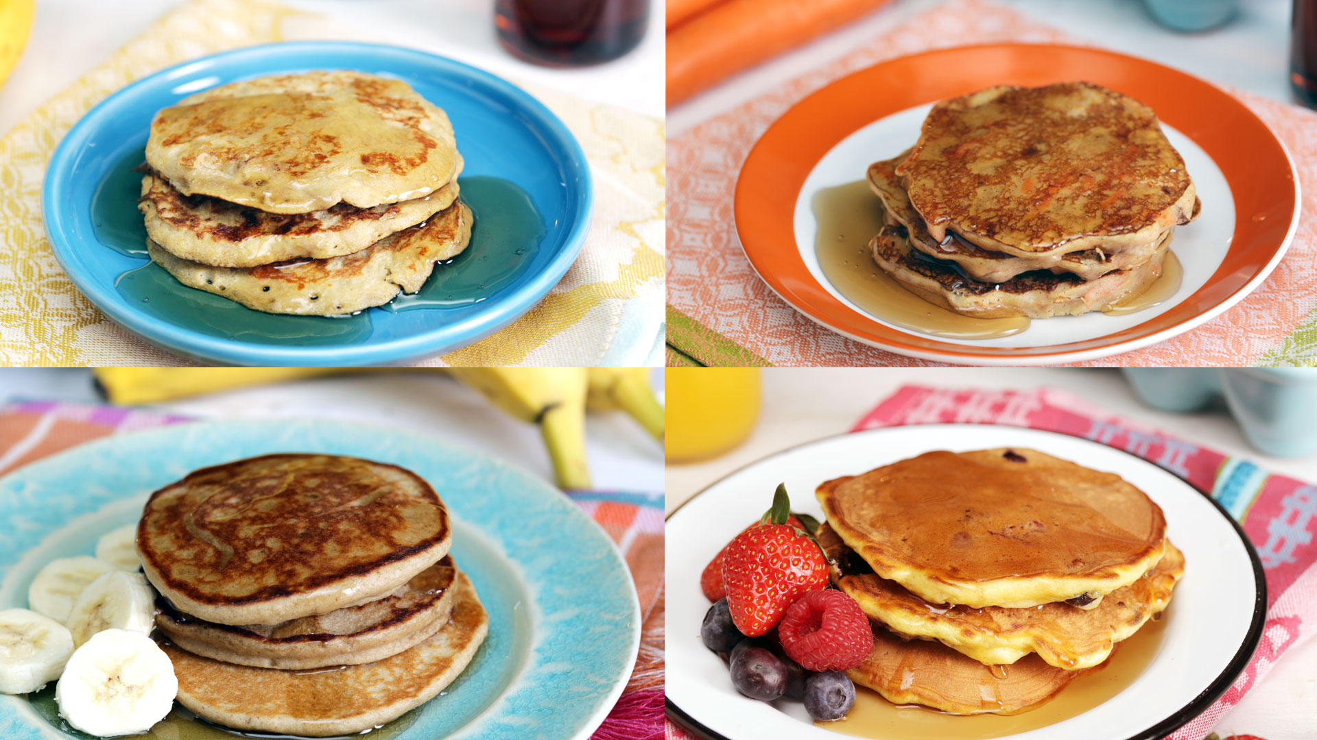 4 simple and healthy pancakes recipe tastemade ccuart Choice Image