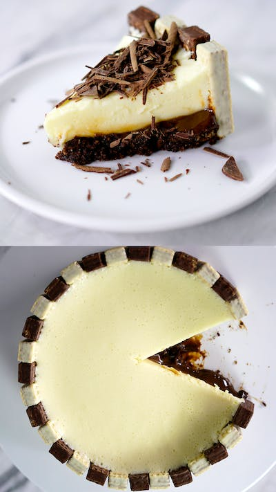 Mousse Cake with Brigadeiro and Wafers