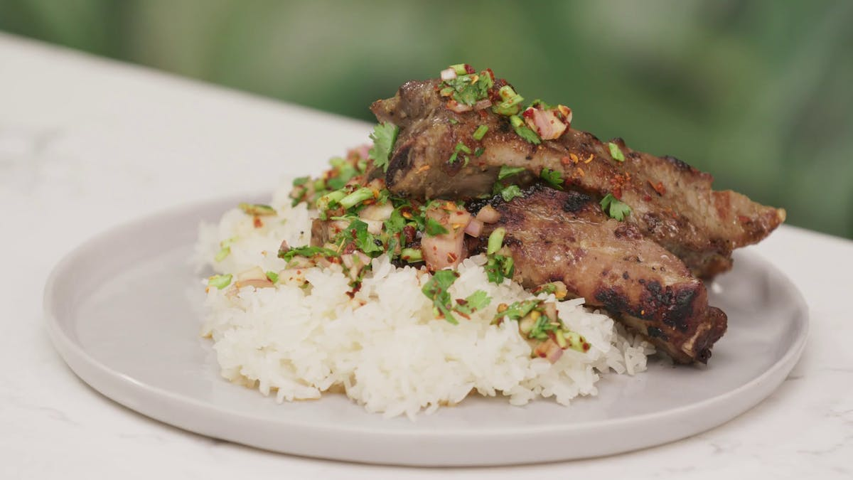 Thai-Style Baby Back Ribs With Sticky Rice Image