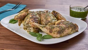 Roasted Spatchcock Pesto Chicken Image