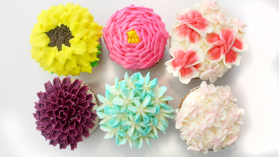 Buttercream flower cupcakes recipe tastemade mightylinksfo