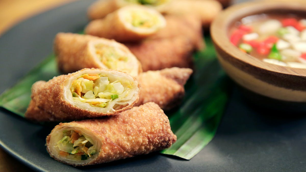 Vegetable Lumpia with Cracked Pepper Vinegar Image