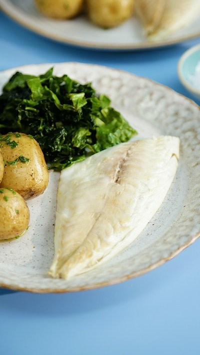 Green and Yellow Salt Baked Fish