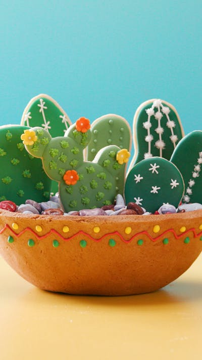 Humidity-Proof Gingerbread Cactus Bowl