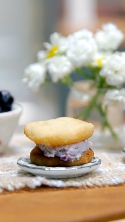 No Churn Blueberry Ice Cream Sandwich