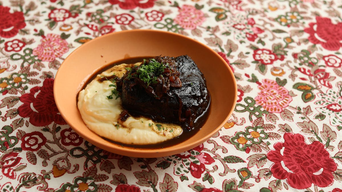Braised 'Daube' of Beef with Buttery Mashed Potato Image