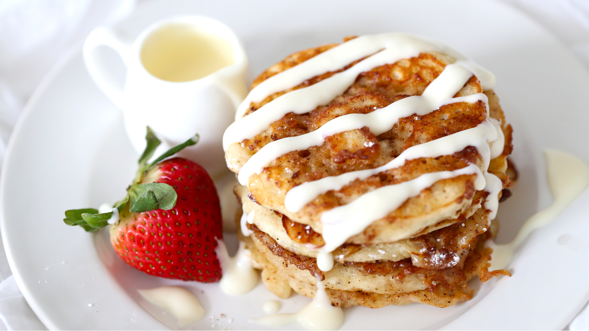 Cinnamon roll pancakes recipe tastemade ccuart Images