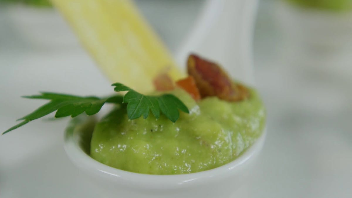 Spicy Avocado Salsa with Matoke Crisps Image