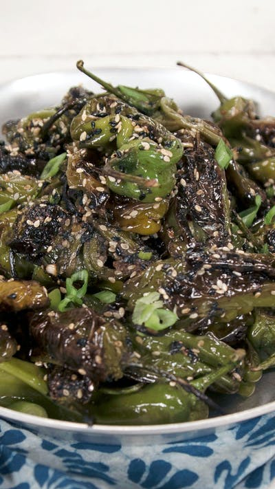 Blistered Shishito Peppers With Soy