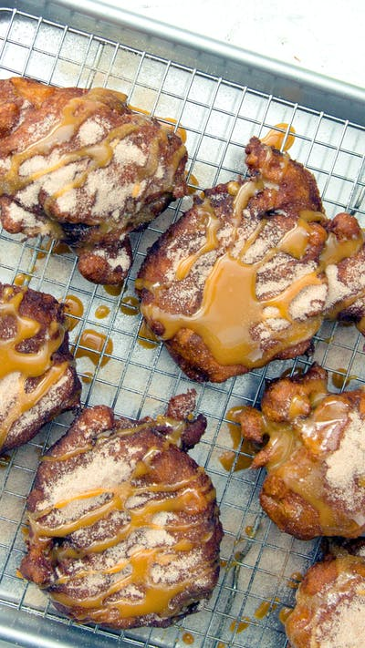 Salted Caramel Apple Fritters