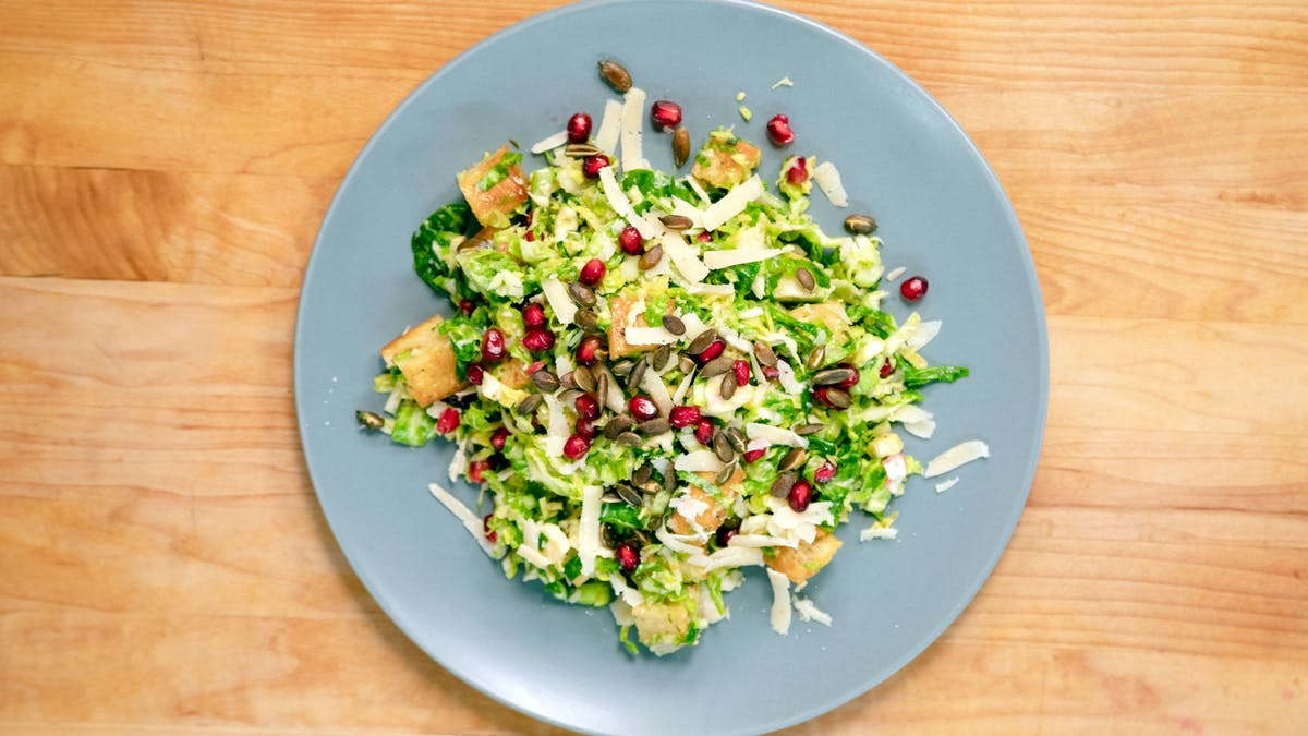 Brussels Sprout Caesar Salad Image