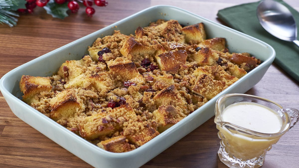 Spiced Eggnog Bread Pudding Image