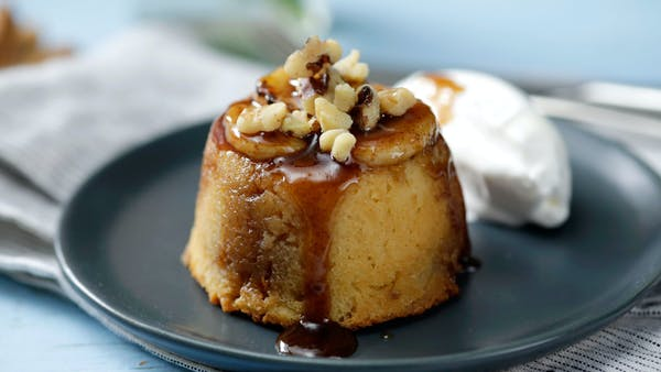 Mini Upside Down Banana Cake