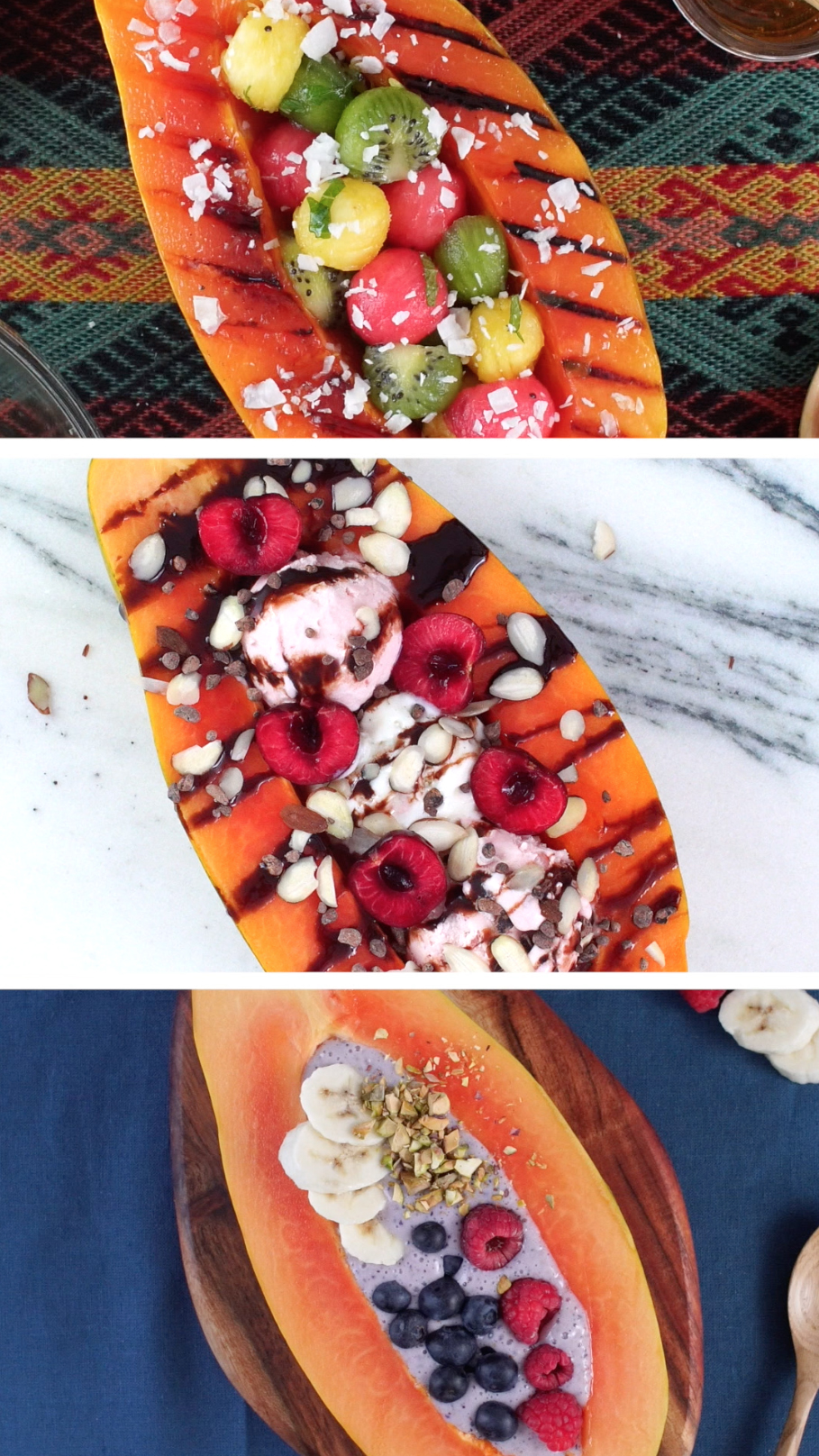 Papaya Boats 3 Ways