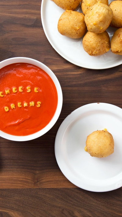 GRILLED CHEESE AND TOMATO SOUP DUMPLINGS