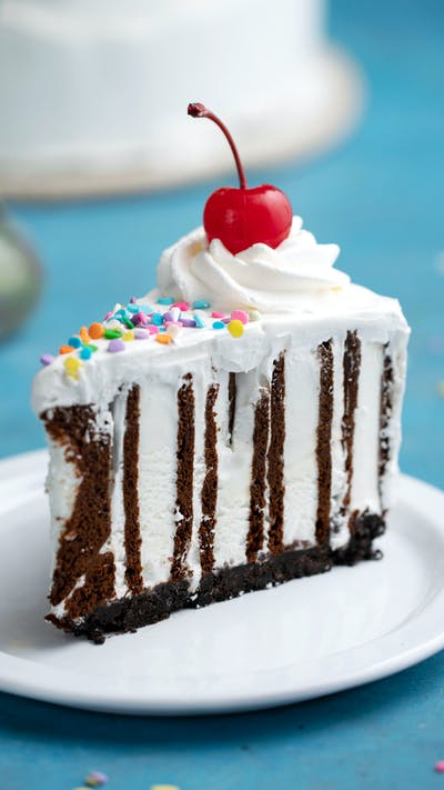 Ice Cream Sandwich Zebra Cake