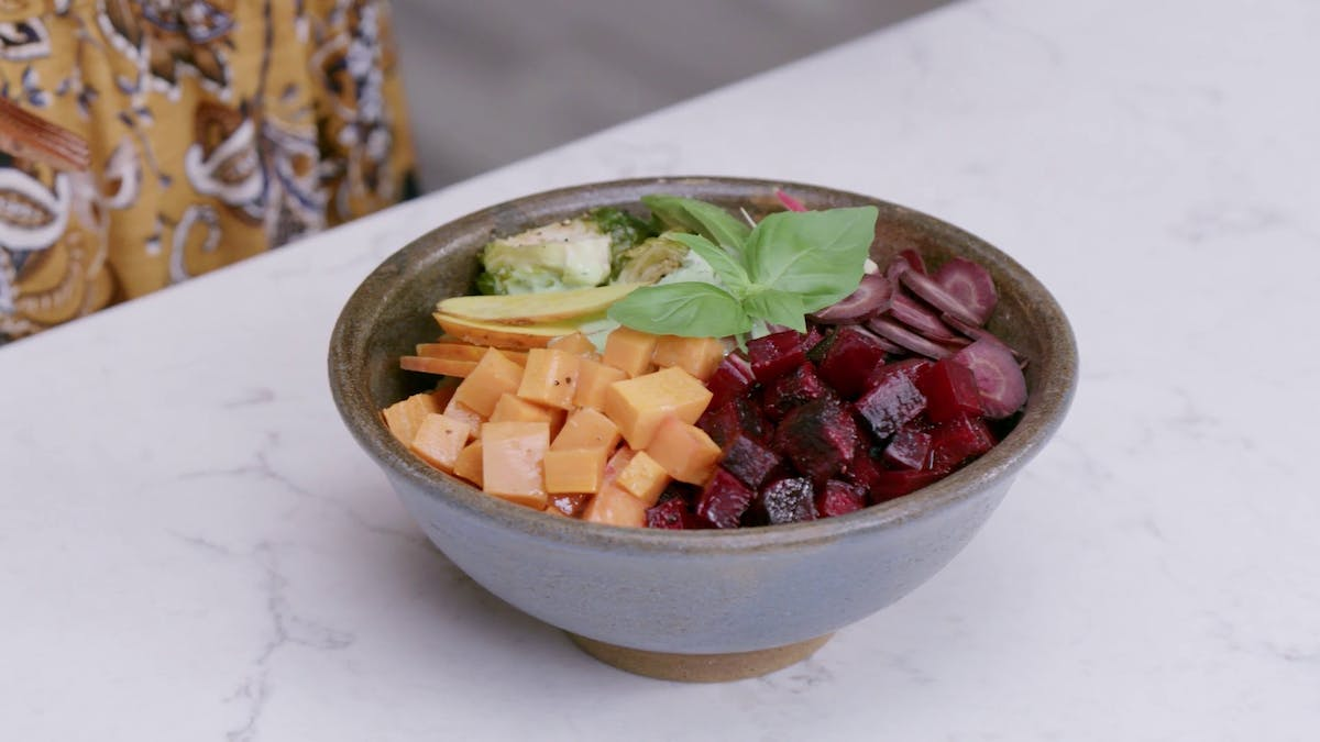 Rainbow Bowl with Green Rice Image