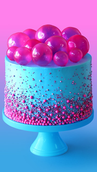 Bubble Pop Electric Cake