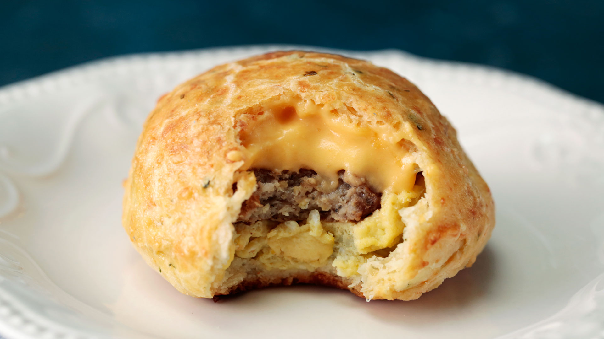 Sausage Egg And Cheese Stuffed Biscuits Tastemade