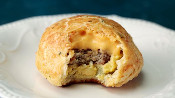 Sausage Egg And Cheese Stuffed Biscuits Recipe Tastemade