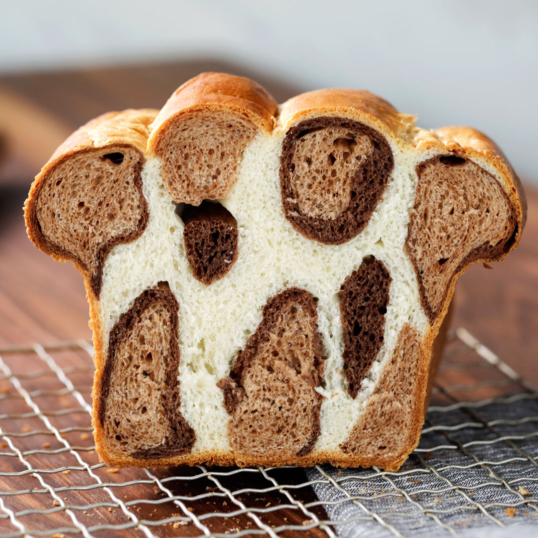 Leopard print bread loaf recipe tastemade thecheapjerseys Choice Image