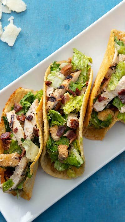 Chicken Caesar Salad Tacos