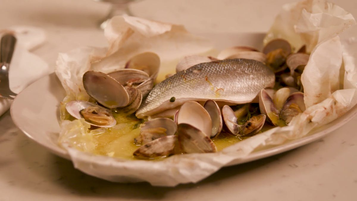 Seabass Cooked in Paper Image