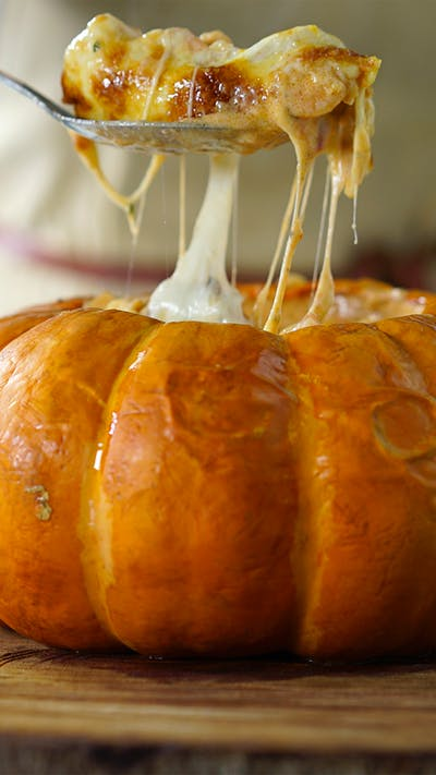 Shrimp-stuffed Pumpkin