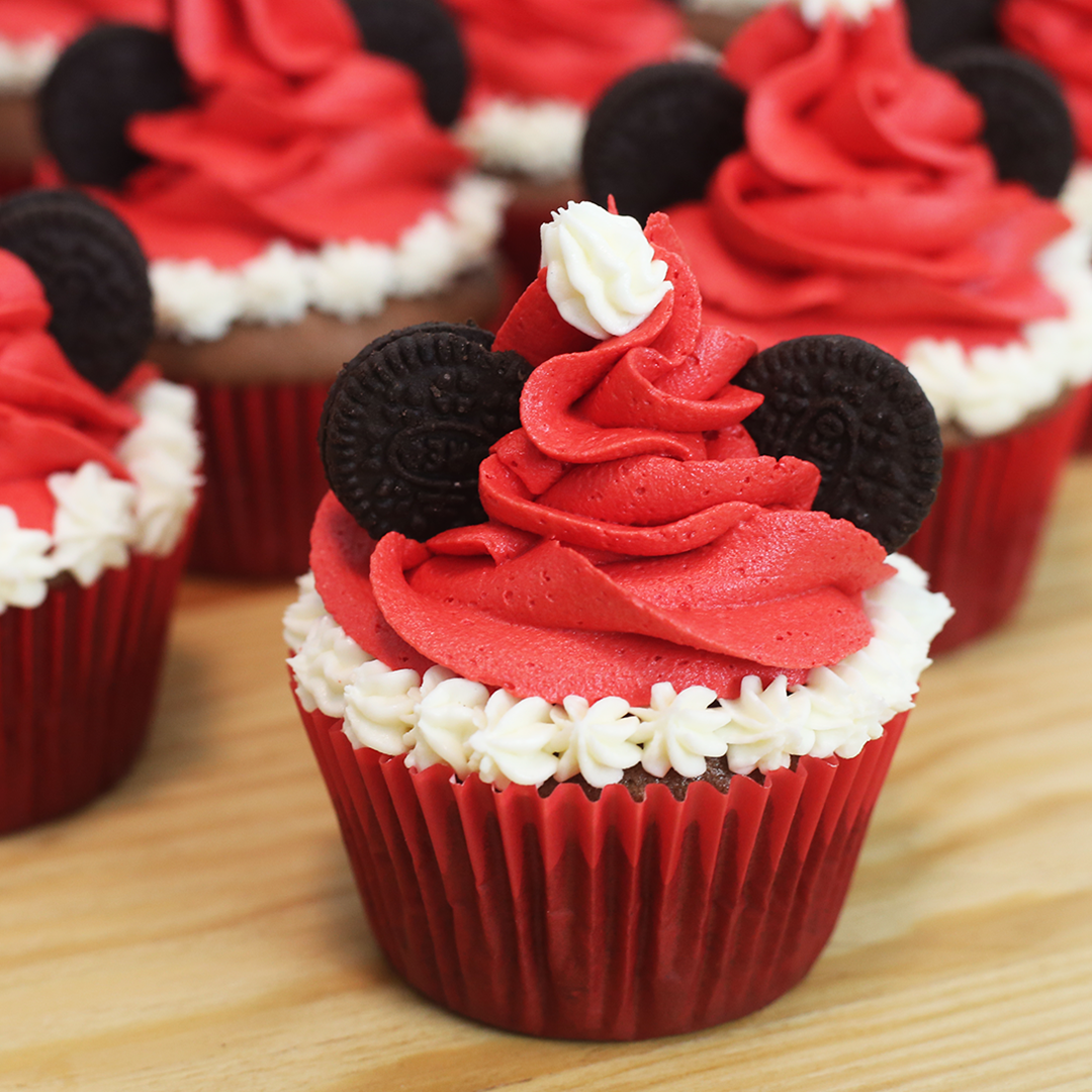 mickey mouse christmas cupcakes recipe tastemade - Christmas Cupcakes