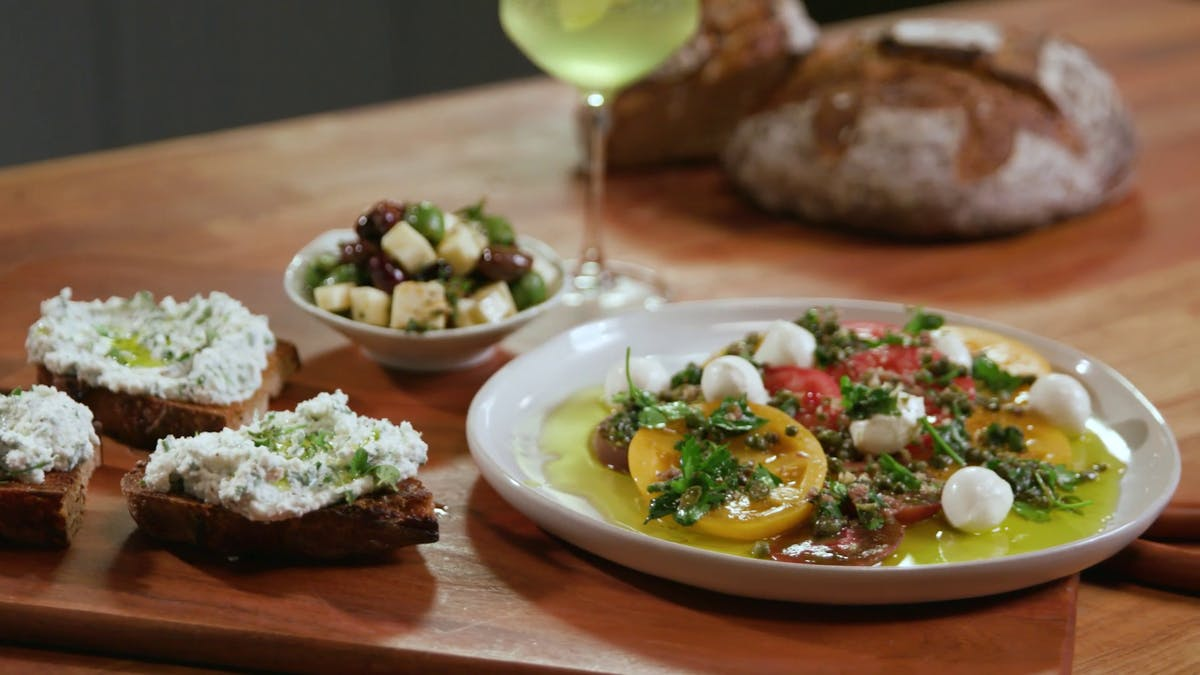 Marinated Olives and Cheese Image