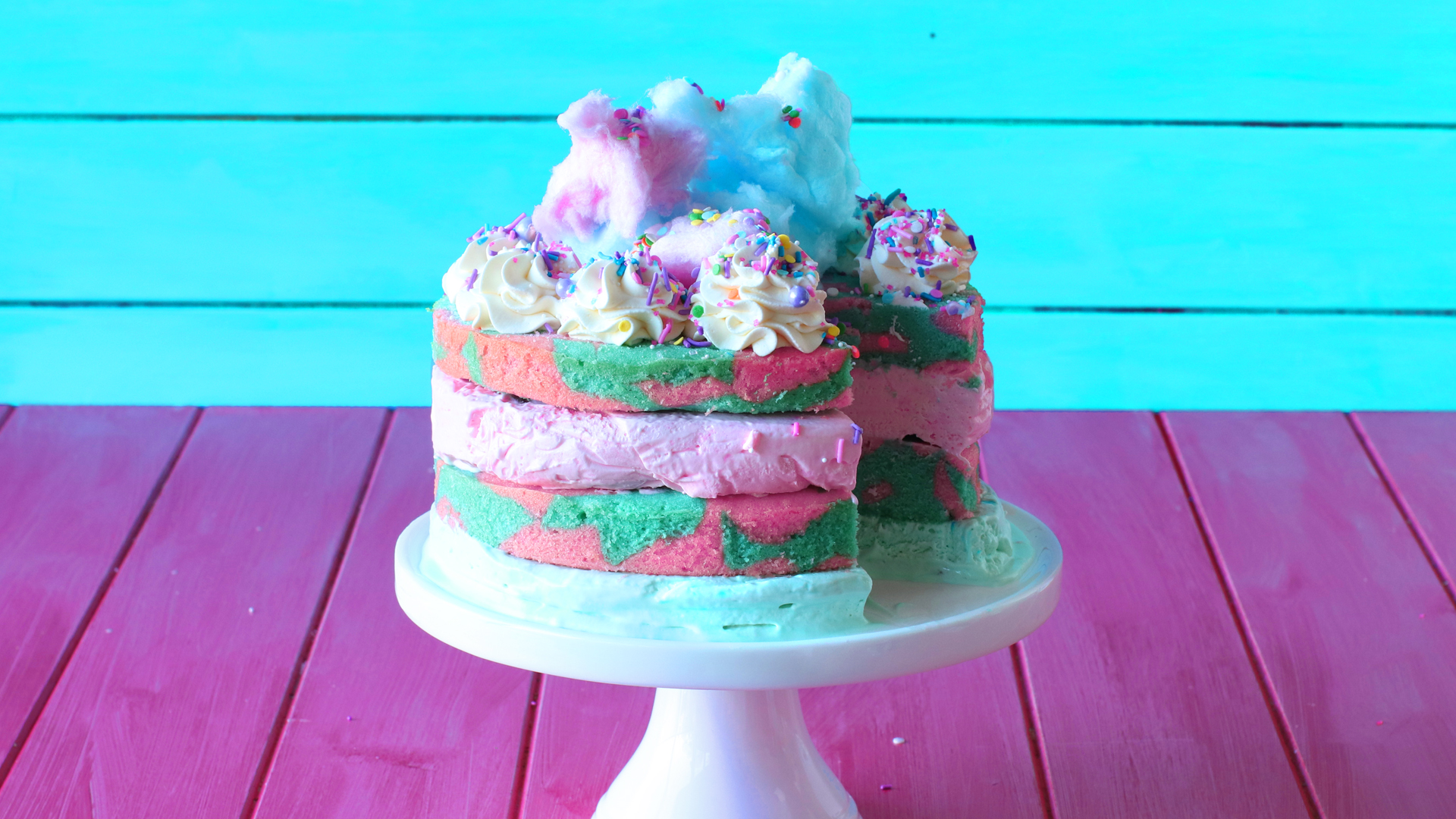 Cotton Candy Cake Ice Cream Recipe