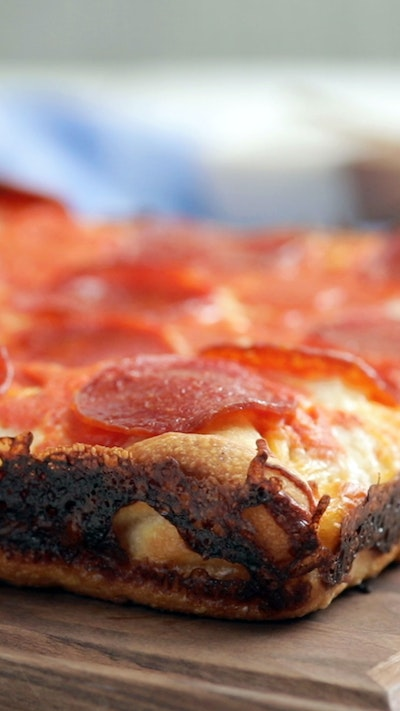 Cheese Lover's Grilled Cheese Crust Detroit Style Pizza