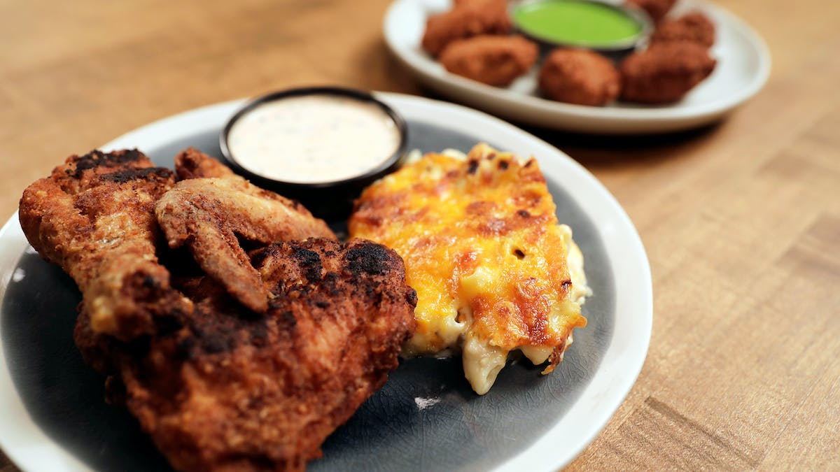 Baked Then Fried Chicken Image