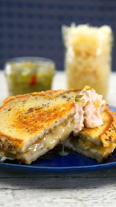 Pastrami-Spiced Grilled Cheese With Sauerkraut and Thousand Island Dressing