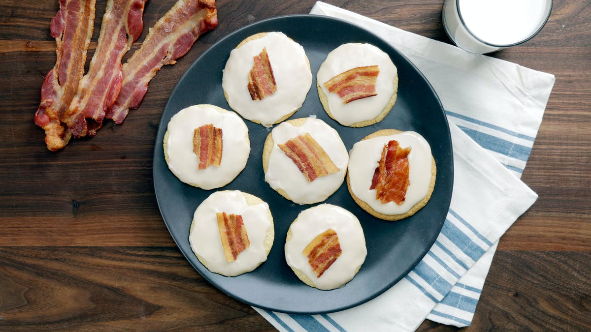 Bacon Fat Cookies with Maple Bourbon Glaze Image