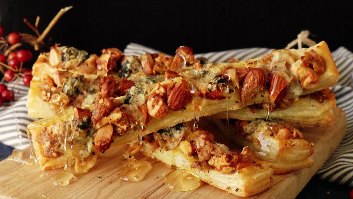 Nuts and Blue Cheese Pie Sticks Image