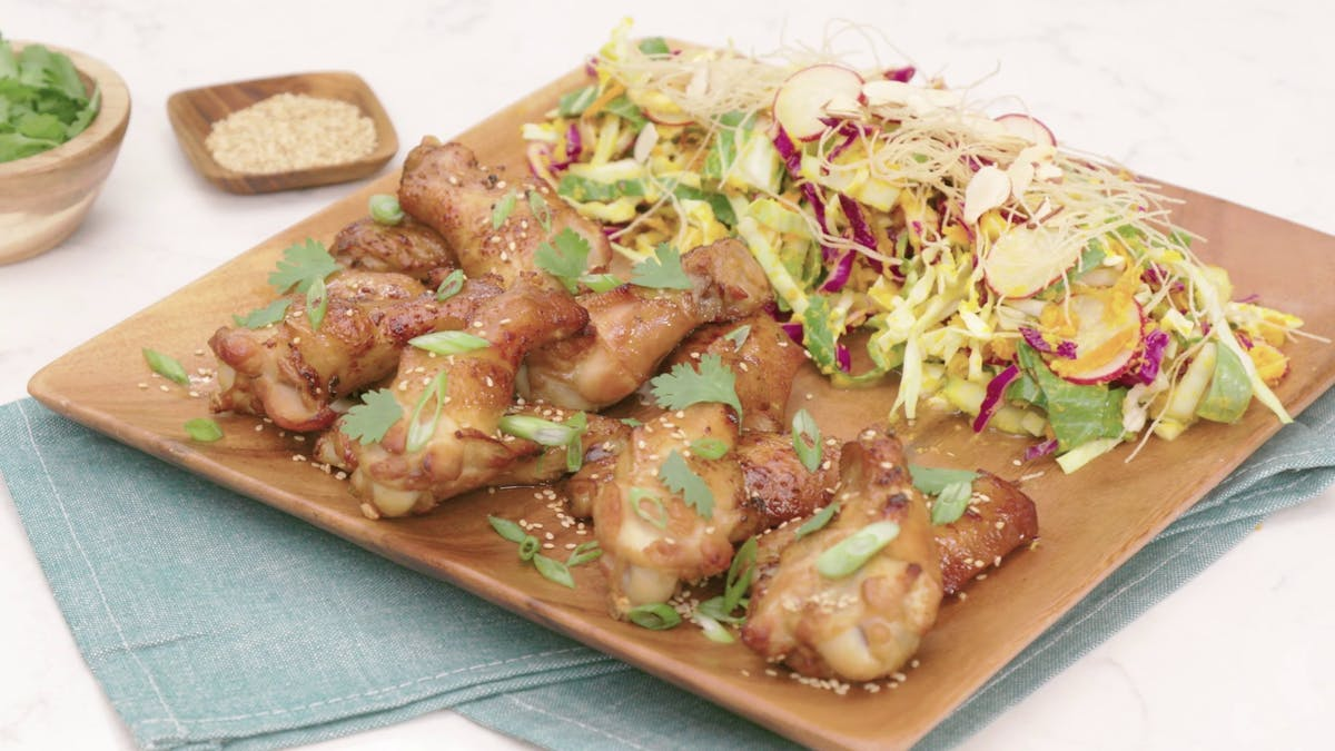 Green Tea Smoked Chicken Wings Image