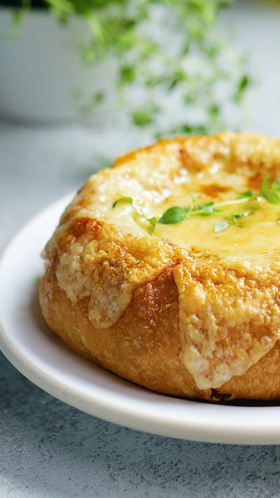 French Onion Soup Bread Bowls