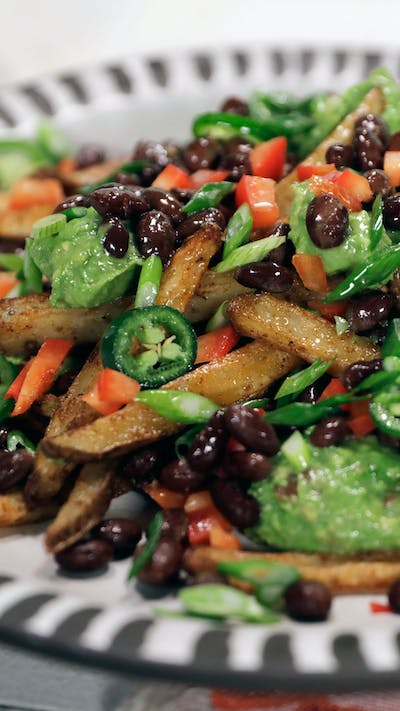 Loaded Baked French Fries With Hidden Veggies