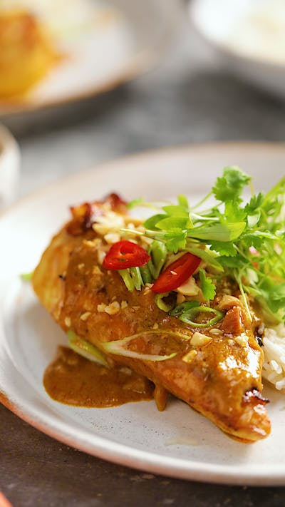 Chicken Breast With Peanut Sauce