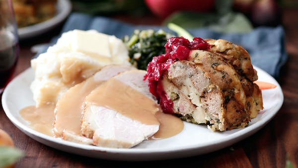 Stuffing Ring With Cranberry Sauce Recipe Tastemade