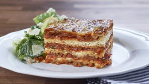 The Cheesiest Meat Lasagna Image