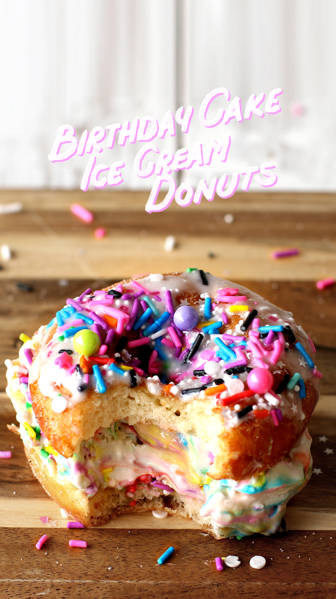 Birthday Cake Ice Cream Donuts The Scran Line Tastemade