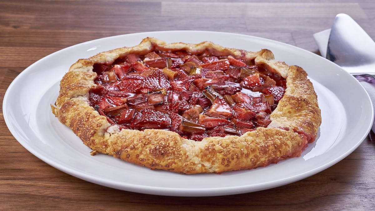 Strawberry Rhubarb Galette Image