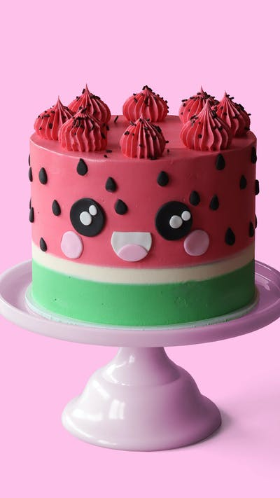 Kawaii Watermelon Cake