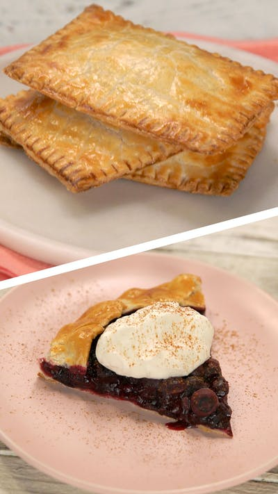 Blueberry Galette and Ricotta, Onion, Squash, Thyme Hand Pies