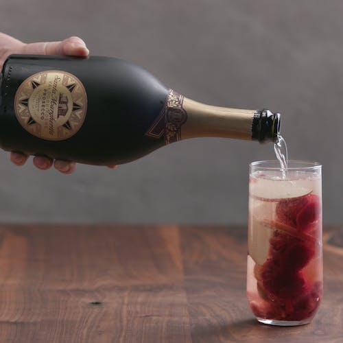 Sparkling Cran-Apple Prosecco Float