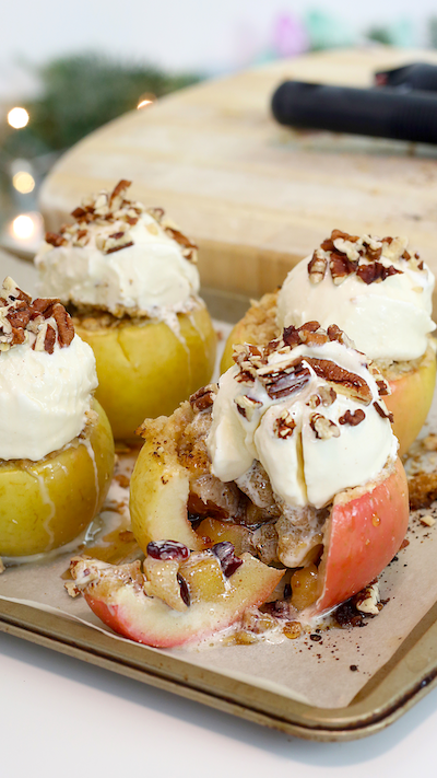Baked Apple Crisp Sundaes