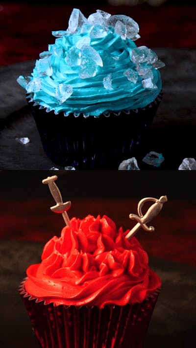 Ice + Fire Cupcakes